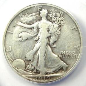1919 Walking Liberty Half Dollar 50C - Certified ANACS VF20 - Rare Date!