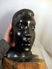 LARGE AFRICAN MAKONDE MALE BUST CARVING