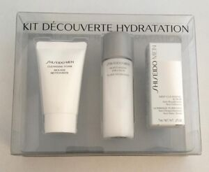 Shiseido Men Decouverte Hydration Kit - Moisturizing Emulsion, Foam & Scrub -NEW