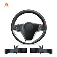 DIY Black Artificial Leather Auto Steering Wheel Cover for Saturn Vue Chevrolet