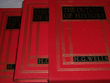 Easton Press H. G. WELLS' THE OUTLINE OF HISTORY 2 vols Deluxe Limited Ed