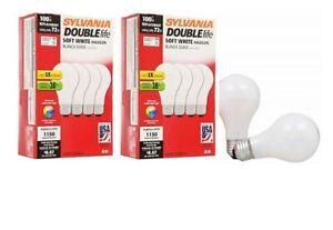 8 Pack Sylvania 72 Watt Double Life Soft White Light Bulb