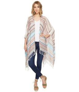 Echo Santiago Stripe Ruana Blanket Wrap, Swim Cover-Up - Multi - One Size #5621