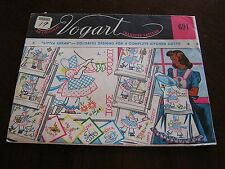 Vintage 50s NEW Vogart 691 Little Susan Daily Chores Transfer Pattern Embroidery