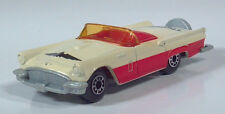 """1982 Matchbox 1957 Ford Thunderbird T-Bird 3"""" 1:63 Scale Model Red White Macao"""