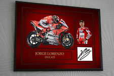JORGE LORENZO Signed Tribute Framed Great Gift