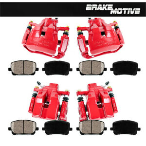 For Lexus ES350 Toyota Avalon Camry Front + Rear Brake Calipers + Ceramic Pads