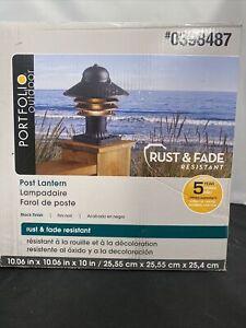 Portfolio 9.75-Watt 9.75-in Black Coastal Post Light