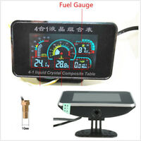4in1 LCD Car SUV Voltmeter Oil Pressure Gauge Water Temp Oil Fuel Meter DC9-36V