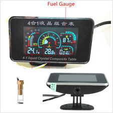 4in1 LCD Car SUV Voltmeter Oil Pressure Gauge Water Temp Oil Fuel Meter DC9-36V