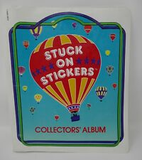 Scholastic 1980's Stuck on Stickers Collectors' Album w/Sticker Kits RARE