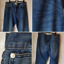 mens french connection blue denim jeans size 38l regular big and tall casual