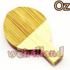 Table Tennis Racket USB Stick, 16GB 3D Wood Quality USB Flash Drives WeirdLand