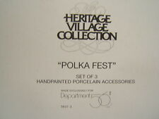 """Dept 56 Porcelain Accessories """"Polka Fest""""  #56073 Heritage Village Collection"""