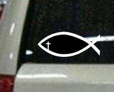 Christian Fish with cross eye window decals sticker christain Jesus Bible