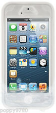 NAZTECH WHITE CLEAR VAULT WATERPROOF TPU HARD CASE COVER FOR iPHONE 5 5S