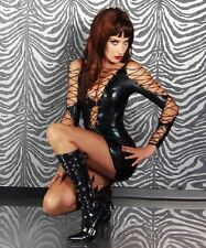 B748 Sexy PVC Lingerie O Rings Catsuit Clubwear fancy Dress Outfits size 8--12