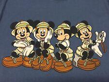 Mickey Mouse Small T-Shirt Safari Cartoon Animal Kingdom Walt Disney World Land