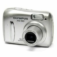 Olympus FE-110 Compact Point & Shoot Digital Camera in Silver