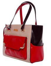 LA Fatima Trio Colors Tote Italian Leather Bag/Office Bag/Tote Bag/Leather Bag/