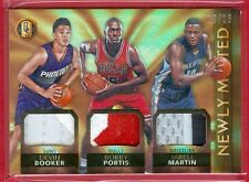 2015-16 GOLD STANDARD Devin Booker/Portis/Martin SSP TRPL PATCH RC CARD #d 10/15