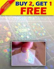 120 Transparent Hologram security sticker label  1x1Inch 2,5x2,5cm