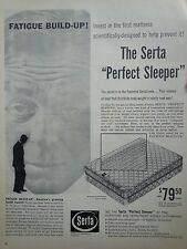 1960 Serta Perfect Sleeper Fatigue Build Up Original Ad