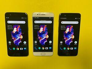 OnePlus 5 - 64GB 128GB (Unlocked) Smartphone  Black Gold Gray - Good Condition