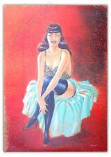 Affiche Berthet Pin-up Dottie signée Yann et Berthet 50x70 cm