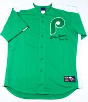 Steve Carlton Signed Phillies Green Cooperstown Jersey w/ HOF 94- JSA W Auth *F