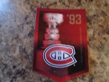 2012-13 Panini Molson Canadian Stanley Cup Collection 1993 MONTREAL CANADIENS