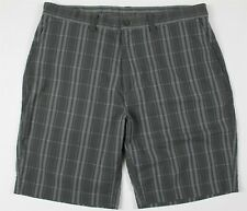 MINT Patagonia Pucker Seersucker Shorts MENS 35 Gray Plaid Poly Cotton