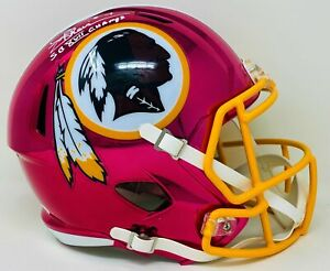 Joe Theismann Autographed Washington Redskins Chrome Full Size Speed Rep Helm...