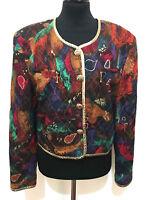 BETTY BARCLAY VINTAGE '80 Giacca Donna Viscosa Lurex Woman Jacket Sz.M - 44
