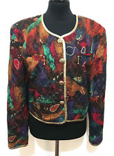 BETTY BARCLAY VINTAGE 80 Chaqueta De Mujer Viscosa Lurex Woman Jacket M Sz. - 44