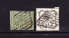ITALY. (PAPAL STATES)  1852. 2 X USED STAMPS.