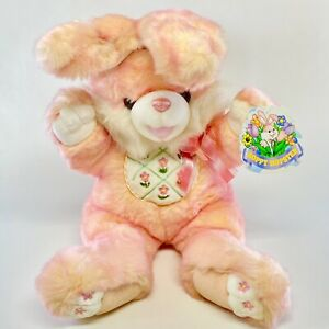 """New 24"""" Large DanDee Hoppy Hopster Bunny Rabbit Pink Plush Easter Floral Toy"""