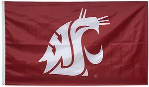 Washington State University Cougars Flag WSU NCAA 3X5FT banner US Shipper