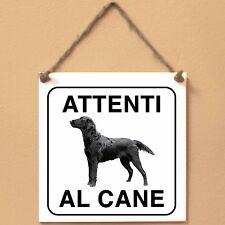 Flat Coated Retriever 2 Attenti al cane Targa cane cartello ceramic tiles