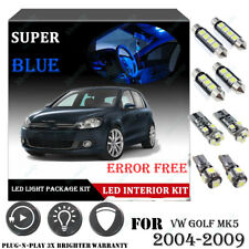 11PCS For VW Golf MK5 2004-2009 Blue 10000K Car Interior LED Lights Package Kit