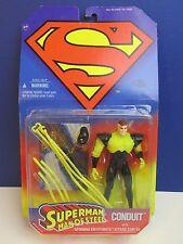Vintage Rara cardada Superman conducto Kenner Figura de Acción Moc Hombre de Acero 1996
