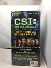 CSI Crime Game + Booster Pack #1 - 3 More Crime Stories New Factory Sealed