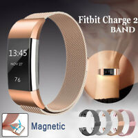 For FitBit Charge 2 Wristband Metal Stainless Magnetic Band Strap Replacement
