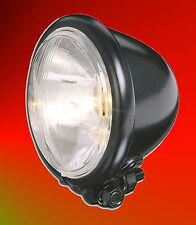 """Hauptscheinwerfer Scheinwerfer Lampe 4 1/2"""" schwarz mattschwarz Bates 12 Volt"""