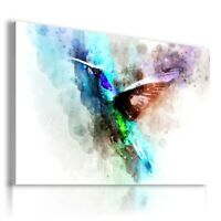 PAINTING DRAWING BIRDS NATURE PRINT Canvas Wall Art Picture  R53 UNFRAMED