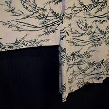 """Vintage Japanese Haori Jacket Kimono Silk Modified XL Plus Size """"Yellow Mums"""""""