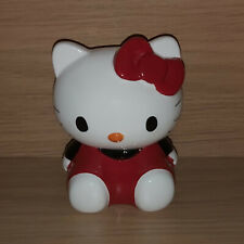 Hello Kitty Ceramic 3D Money Box Coin Bank 2010 Licensed Sanrio Red/White