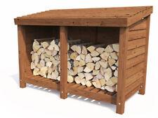 Wood Store Log Storage Outdoor Firewood Wooden Kindling Garden - Dunster House