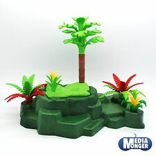 PLAYMOBIL ZOO JUNGLE DINOSAURES : landschaftsplatte Roche plantes