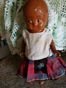 vintage Native America baby Composition Doll